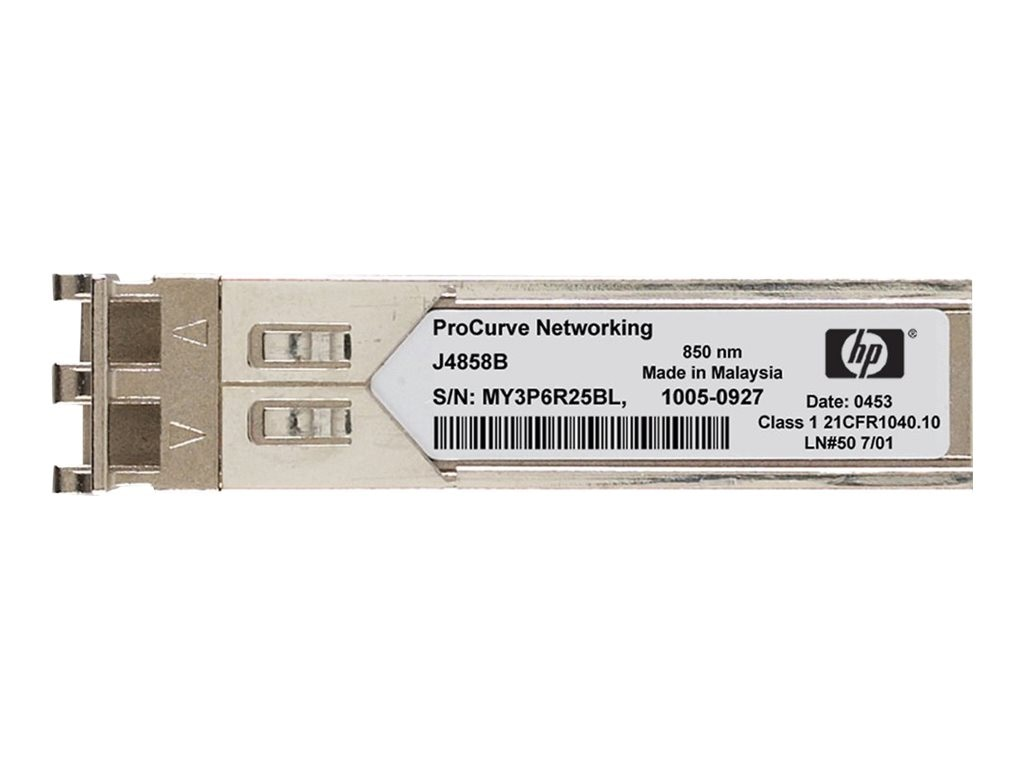 HPE X110 100M SFP LC LX Transceiver, JD120B, 11490965, Network Transceivers