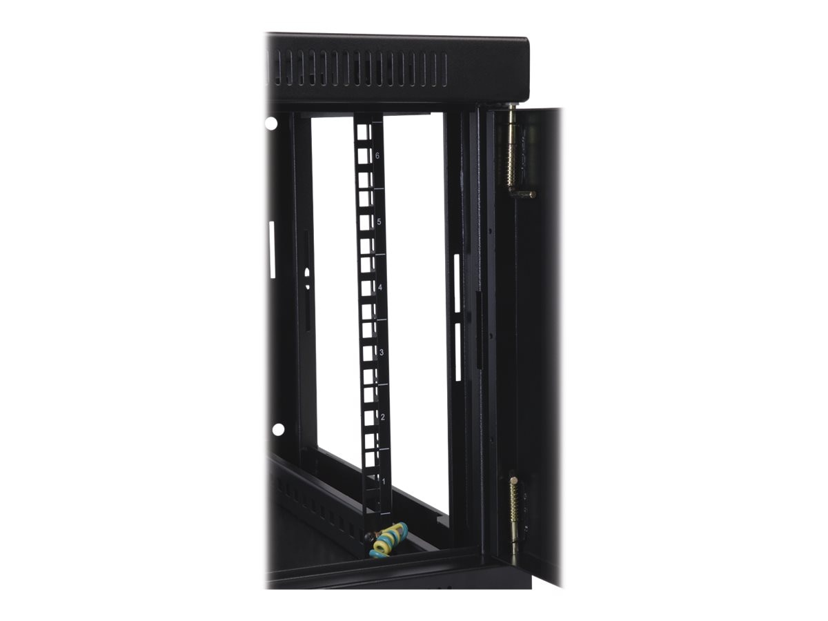 Tripp Lite SmartRack 10U Vertical-Hinged Wall-Mount Standard-Depth Rack Enclosure Cabinet Plexiglass Front Door, SRW10USG