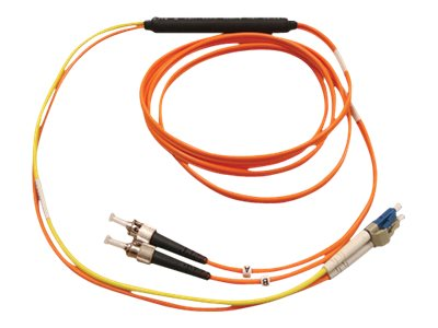 Tripp Lite Mode Fiber Conditioning Patch Cable, ST-LC, Orange, 1m, N422-01M, 7485864, Cables