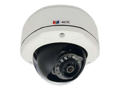 Acti 5MP Outdoor Dome Camera w  D N, IR, Basic WDR & Fixed Lens, E73