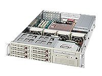 Supermicro Chassis, 2U, Rackmount, Dual Xeon, 6 HS SATA, 1-5.25Bay, EATX, CD, FD, 500W RPS, Black, CSE-823T-R500RCB, 6284817, Cases - Systems/Servers