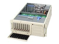 Supermicro Barebone SuperWorkstation 7044A-82B 4U Tower, Dual Xeon,645W PS,2GBE,2PCI-EX,3PCIX,PCI,Max16GB,Black, SYS-7044A-82B, 5472015, Barebones Systems