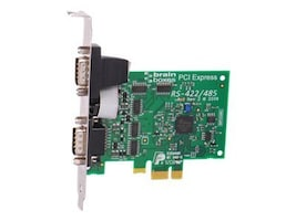 Brainboxes PCIe 2-port DB9 Serial RS422 485 1MB Full Height Express Card, PX-313, 14488810, Controller Cards & I/O Boards