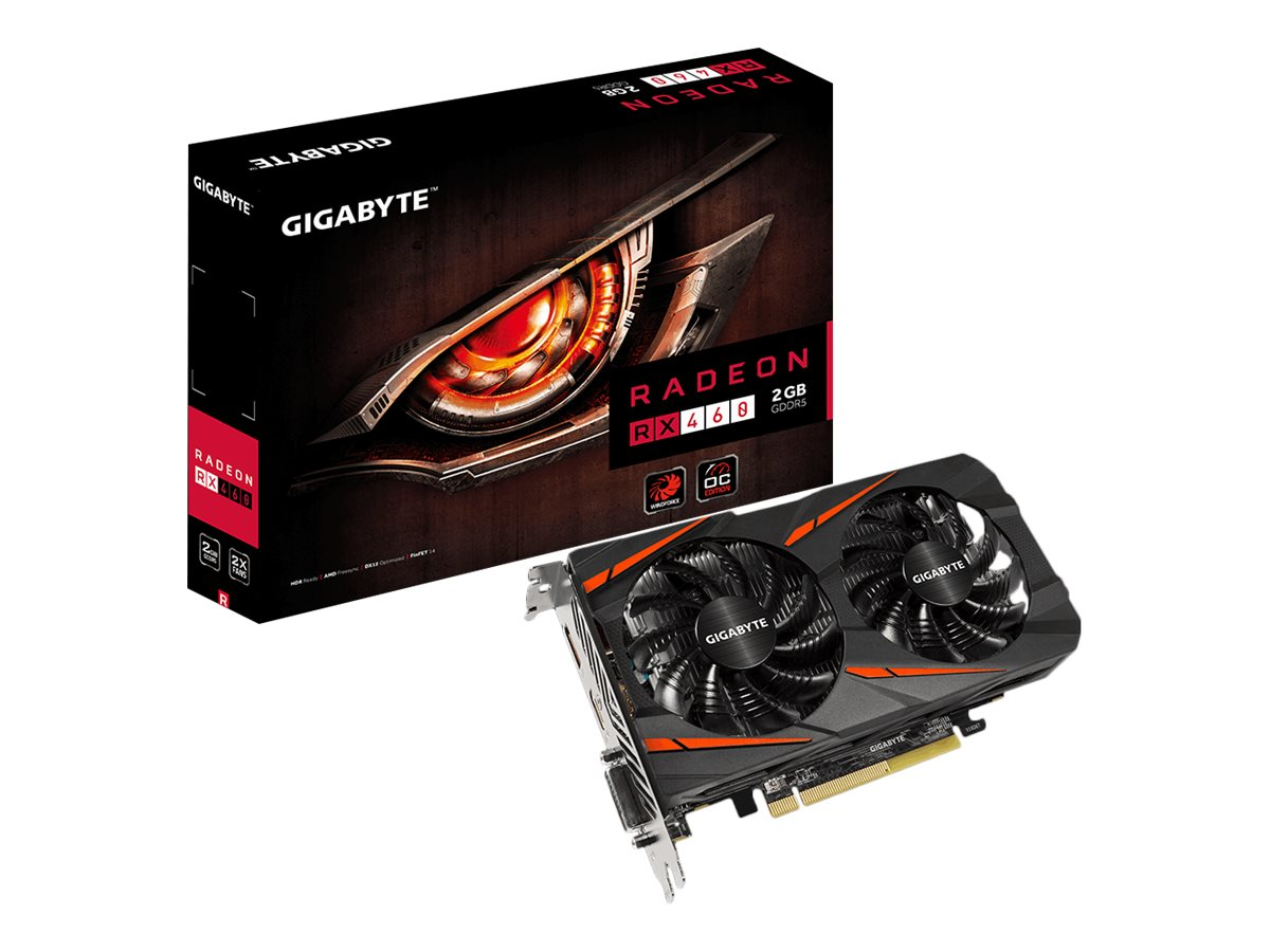 Gigabyte Tech Radeon RX 460 PCIe Overclocked Graphics Card, 2GB GDDR5, GV-RX460WF2OC-2GD