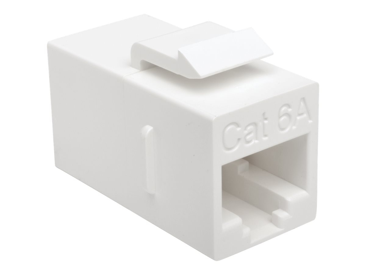 Tripp Lite Cat6a RJ-45 F F Straight-Through Modular In-Line Snap-In Coupler, White, BHDBT-001-FF, 30688580, Adapters & Port Converters