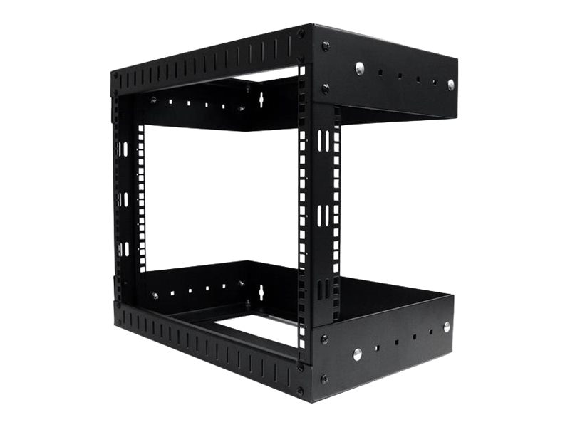 StarTech.com Open Frame Wall Mount Equipment Rack, 8U, Adjustable Depth