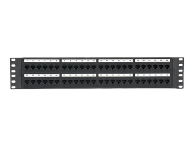 Panduit 48-Port Cat6 Molded Punchdown Patch Panel, NK6PP48P