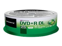 Sony DVD+R DL Media (25-pack)