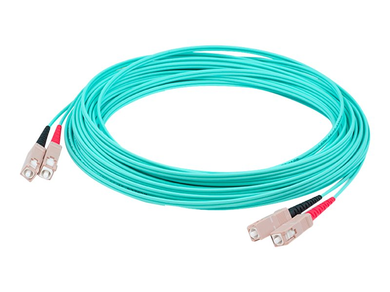 ACP-EP OM3 Fiber Patch Cable, SC-SC, 50 125, Duplex, Multimode, Aqua, 5m
