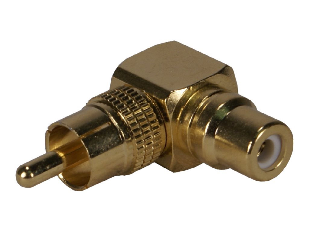 QVS RCA Male To Female 90 Degree Adapter, RCA1V-MFR