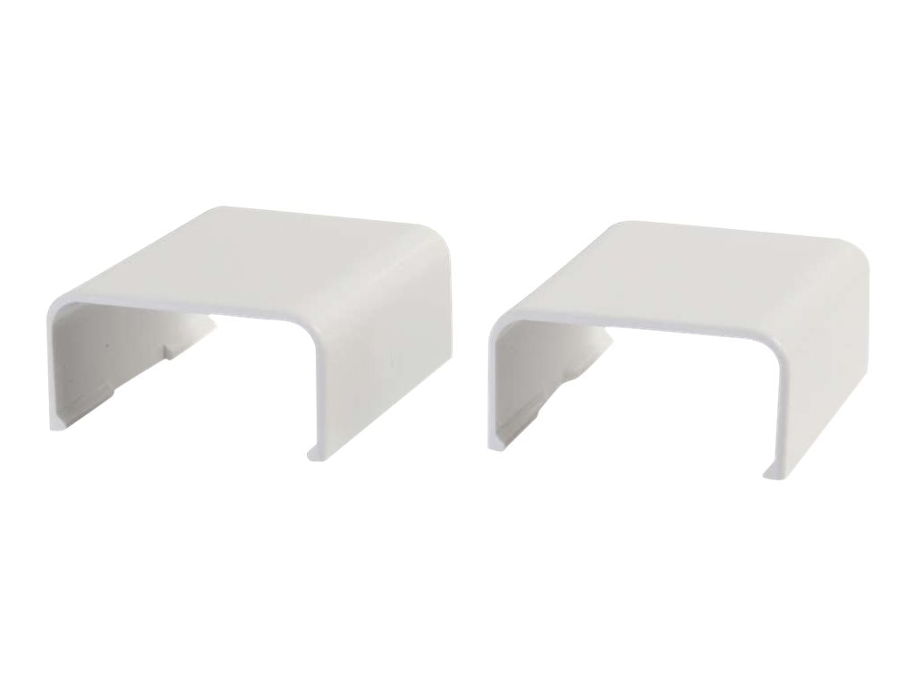C2G Wiremold Uniduct 2900 Cover Clip, White, 2-Pack