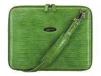 Mobile Edge Faux-Croc TechStyle Portfolio, Green, MEPFC9, 5873169, Carrying Cases - Notebook