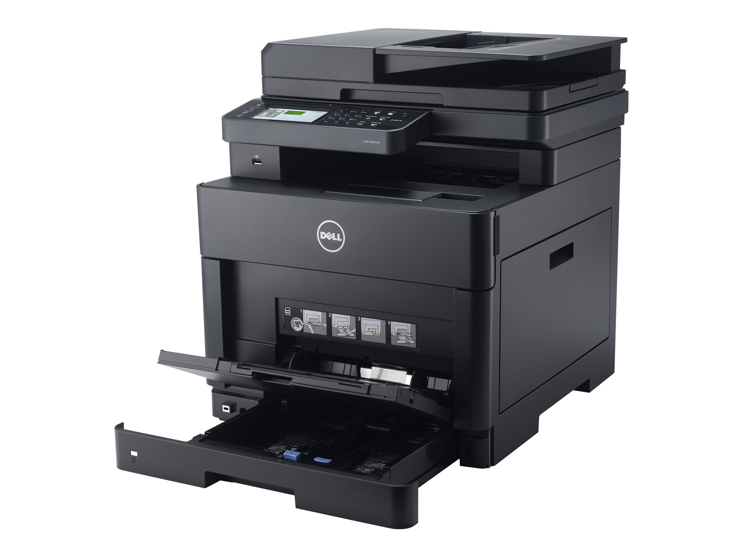 Dell Color Smart Multifinction Printer - H625cdw, 4MYG3