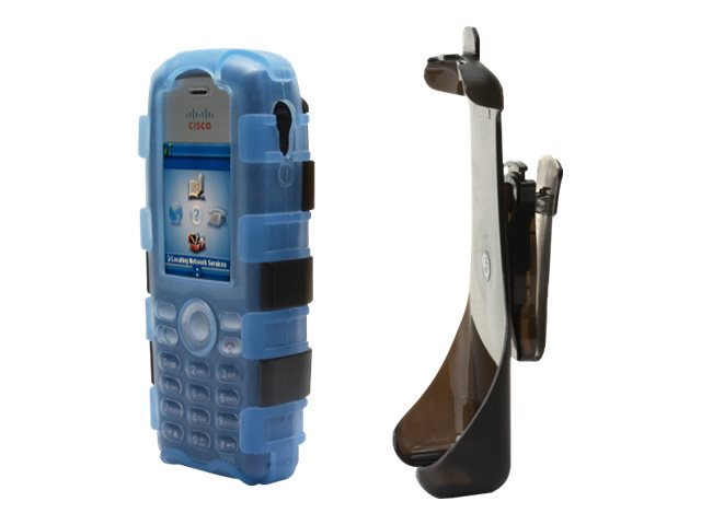 Zcover Silicone Dock-In-Case for Cisco 7925 Clamshell w  Holster & Clip, Blue, CI925JVL