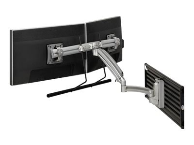 Chief Manufacturing Kontour K1S Dynamic Slatwall Mount, Dual Monitor Array - Silver (TAA Compliant)