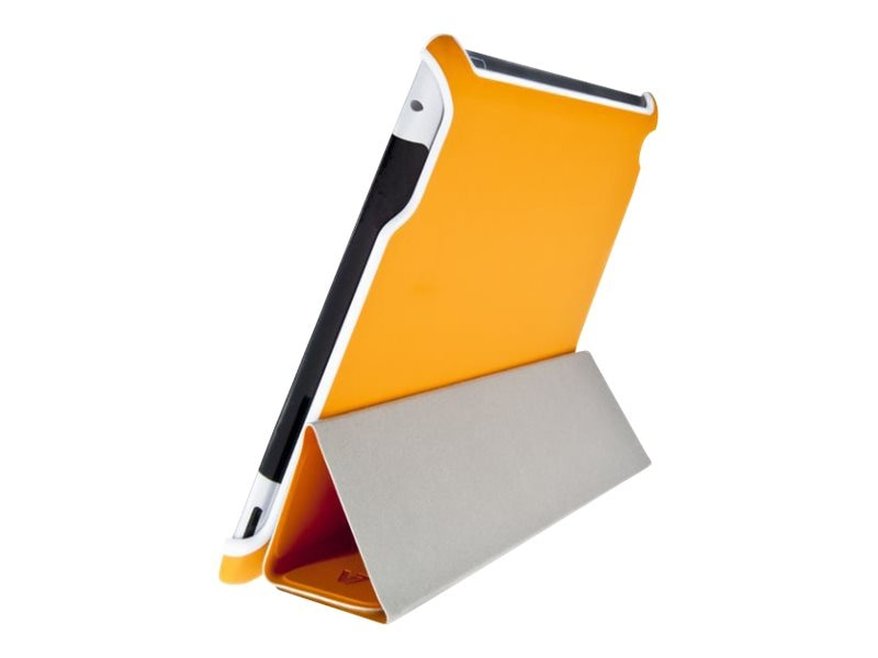 V7 Ultra Slim Tri-Fold Folio Stand for iPad 2 3 4 w  Sleep Wake, Orange, TA37ORG-2N, 16584696, Carrying Cases - Tablets & eReaders
