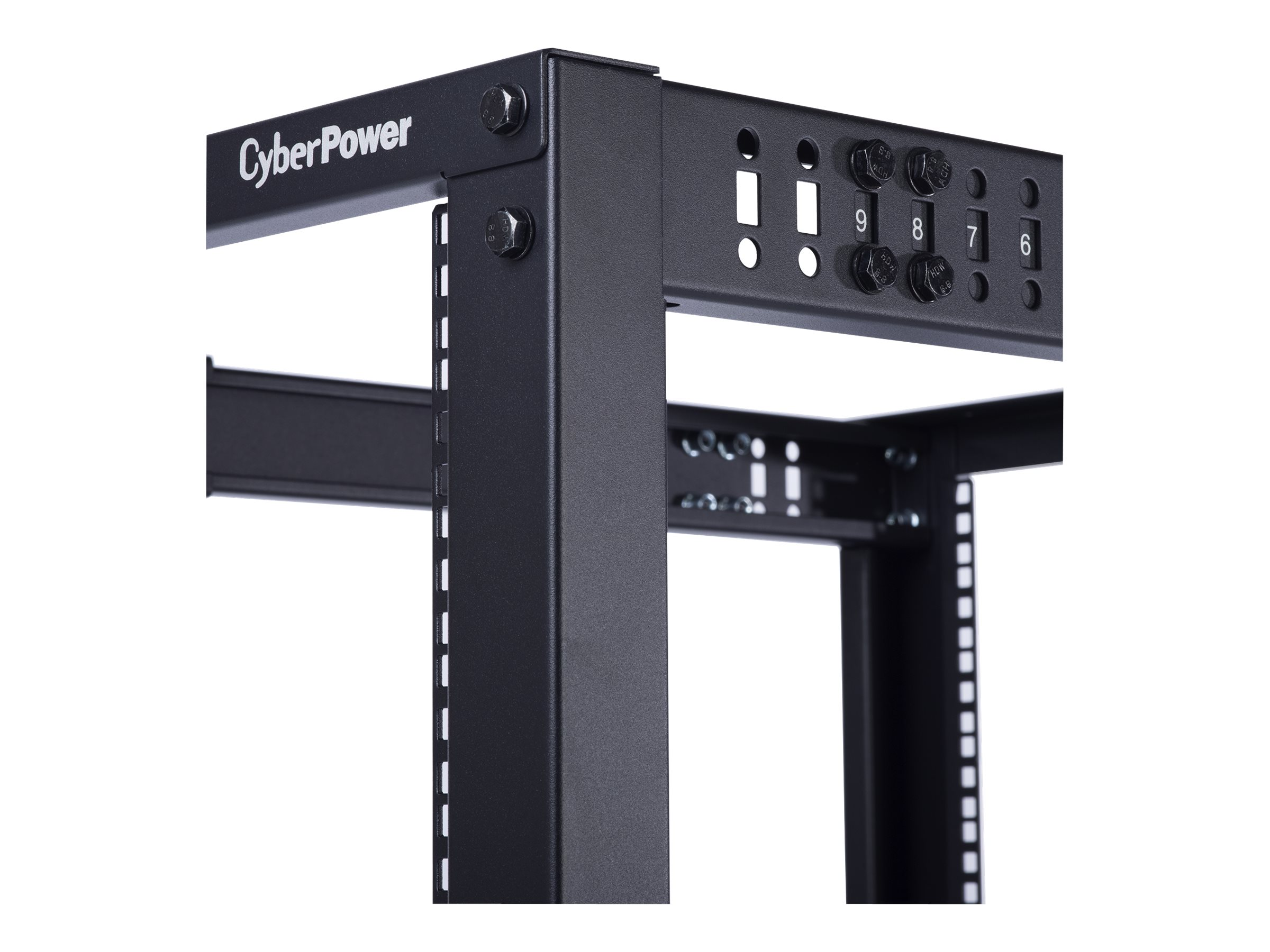 CyberPower Carbon 4-Post Open Frame Rack, 45U x 19, 1760lb Capacity, CR45U40001