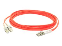 ACP-EP Multi-Mode Fiber Duplex SC LC OM1 Patch Cable, Orange, 8m