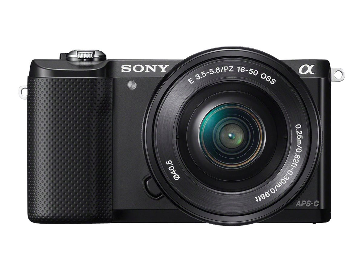 Sony Alpha A5000 Mirrorless Digital Camera with 16-50mm Lens, Black, ILCE5000L/B