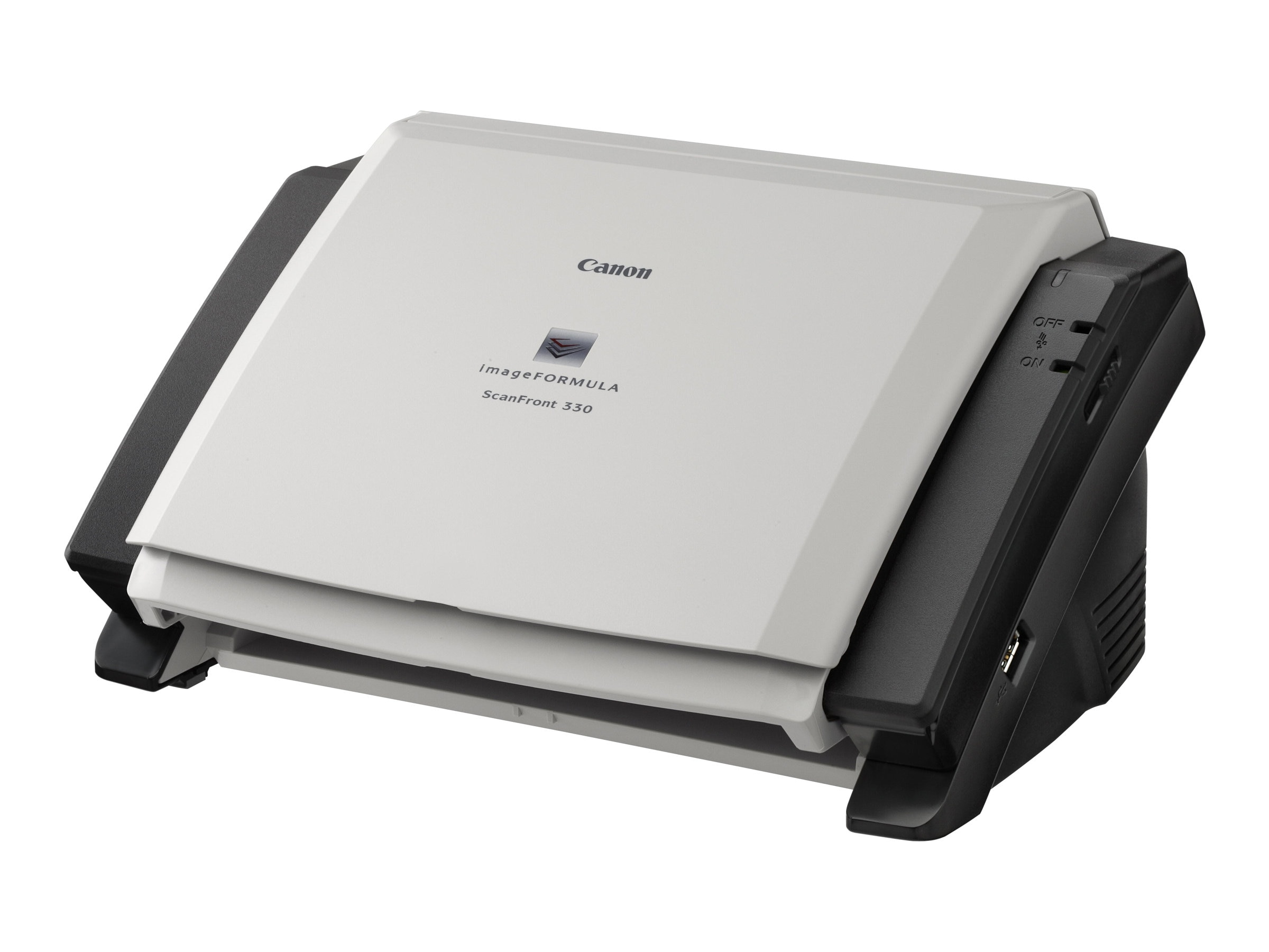 Open Box Canon imageFORMULA ScanFront 330 Sheetfed 24-bit Color 600dpi USB Network Scanner, 8683B002