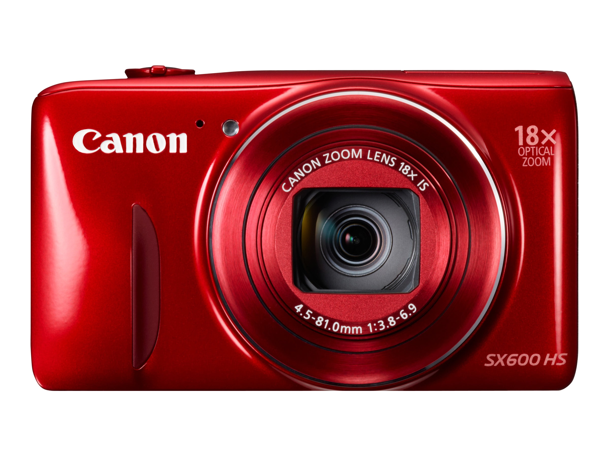 Canon PowerShot SX600 HS, 16MP, 18x Zoom, Red, 9342B001