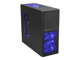 Rosewill Chassis, Line Glow Mid Tower MicroATX 8x3.5 Bays 2x5.25 Bays 7xSlots 3xLED Fans, LINE GLOW, 16653815, Cases - Systems/Servers