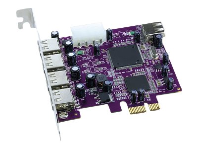 Sonnet Allegro Express 5-Port USB 2.0 PCI-Express Adapter Card, USB2-E, 7417351, Controller Cards & I/O Boards