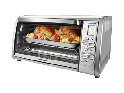 Applica Black & Decker 6-Slice Stainless Steel Convection Oven, Silver