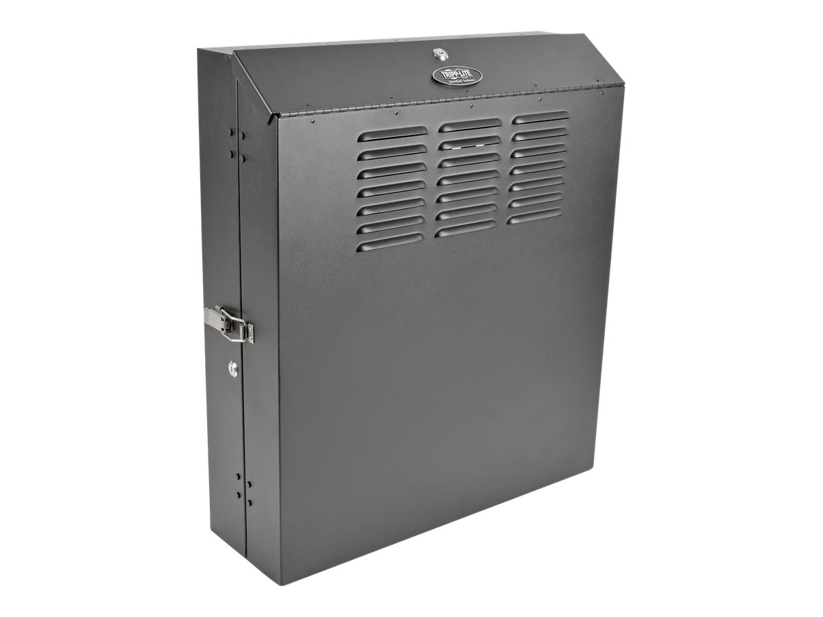 Tripp Lite SmartRack 6U Low-Profile Vertical-Mount Server-Depth Wall-Mount Rack Enclosure Cabinet