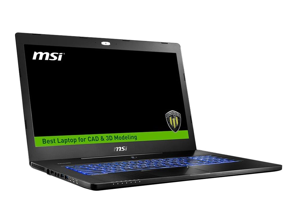 MSI WS72 6QJ-217US Core i6700HQ 2.8GHz 32GB 512GB PCIe+1TB ac GNIC BT WC M2000M 17.3 FHD W10P, WS72 6QJ-217US