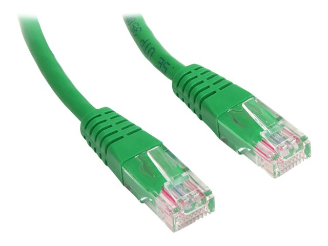 StarTech.com Cat5e Molded UTP Patch Cable, Green, 1ft, M45PATCH1GN