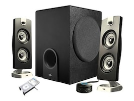 Cyber Acoustics Platinum CA-3602 3-Piece Speaker System, CA-3602, 10092957, Speakers - Audio