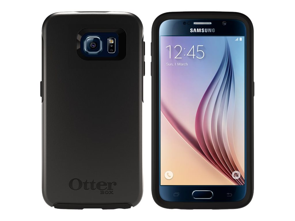 OtterBox Symmetry for Samsung Galaxy S6, B2B Pro Pack, Black, 77-52028, 26839146, Carrying Cases - Phones/PDAs