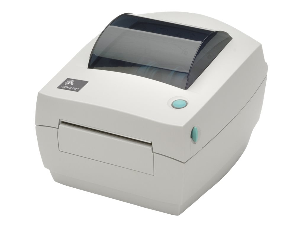 Zebra GC420D DT 203dpi USB Serial Parallel Printer - US Cords