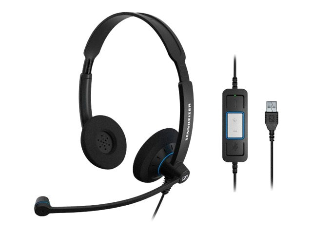 Sennheiser SC 60 Dual-Sided USB Headset, 504549
