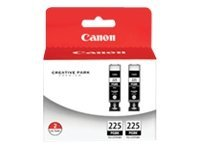 Canon Black PGI-225 Ink Tanks (Twin Pack), 4530B007, 11647184, Ink Cartridges & Ink Refill Kits