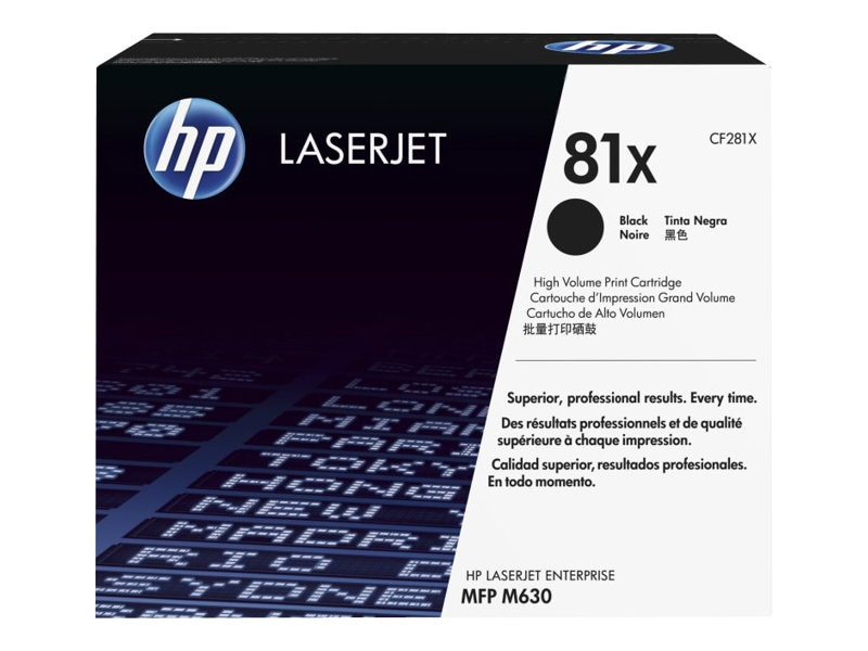 HP 81X (CF281X) High Yield Black Original LaserJet Toner Cartridge