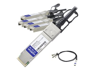 ACP-EP Ethernet QSFP+ to 4 SFP Passive Twinax Breakout Cable, 3m