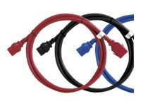 Raritan Securelock Cable 16AWG (1) C14 (1) C13, 2ft, Red (6-pack), SLC14C13-2FTK1-6PK, 16820863, Power Cords
