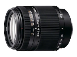 Sony SAL-18250 Zoom Super Wide Angle-Telephoto DT 18-250mm f 3.5-6.3 Autofocus Lens for Alpha & Minolta D, SAL18250, 8044622, Camera & Camcorder Lenses & Filters