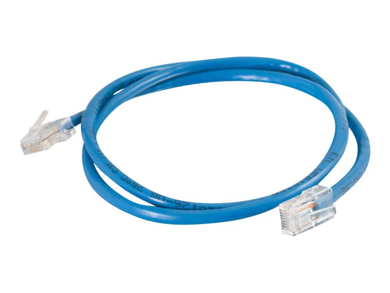 C2G Cat5e Non-Booted Unshielded (UTP) Network Patch Cable, Blue, 5ft