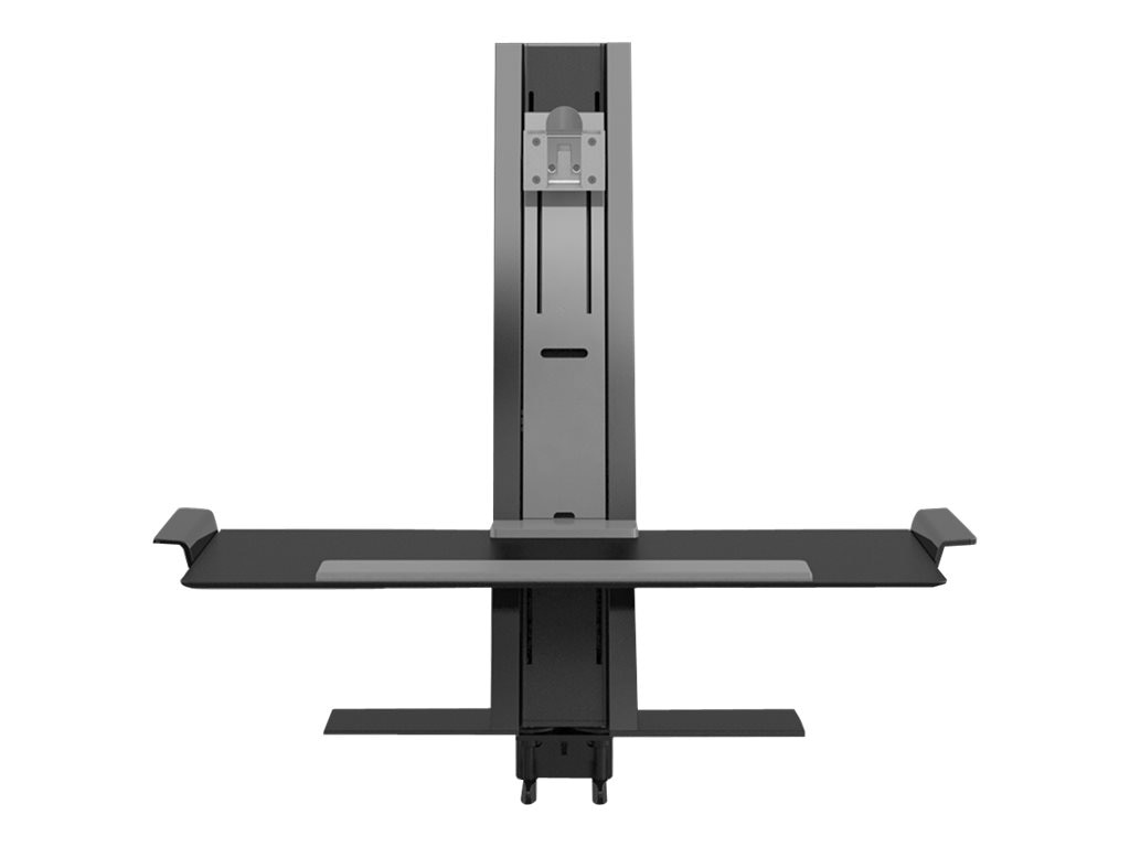 Humanscale Quickstand with Single Monitor Support and Clamp Mount, Black, QSBL24CVN