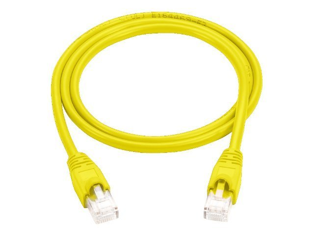 Black Box CAT5e 100MHz UTP Snagless Patch Cable, Yellow, 5ft