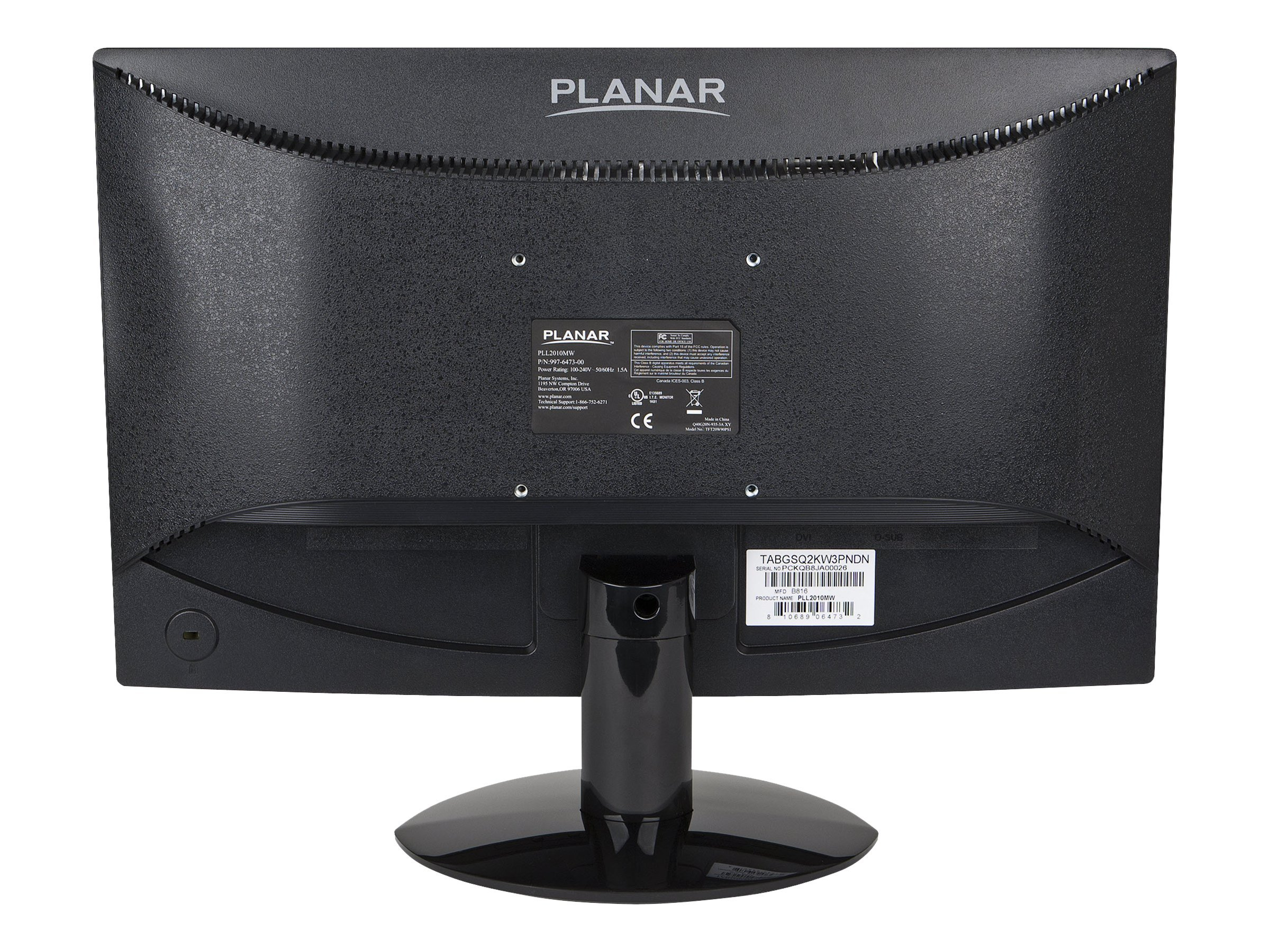 Planar 19.5 PLL2010MW LED-LCD Monitor, Black, 997-7305-00