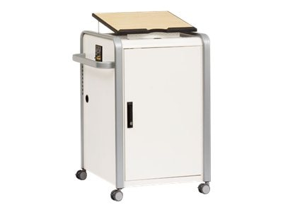 Bretford Manufacturing Tower Podium with Adjustable Lectern Top, Locking Cabinet, EDUPSTCTALHMR, 15281888, Computer Carts