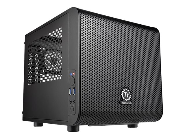Thermaltake Chassis, Core V1 Mini Case Mini-ITX 2x3.5 Bays 2x2.5 Bays 2xSlots No PSU, Black