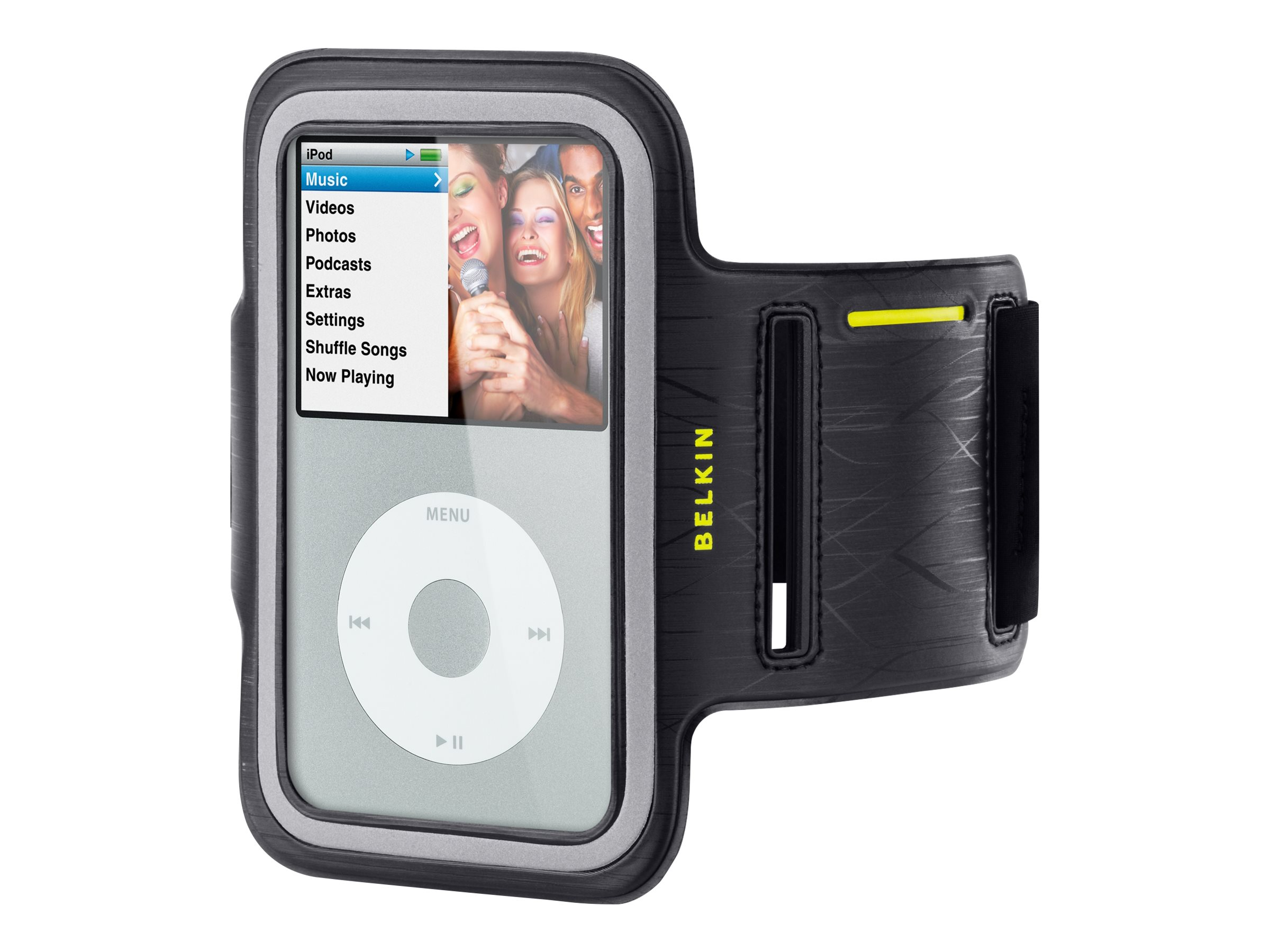 Belkin iPod Classic Lillian Classic Leather Armband, Black, F8Z504TT064, 11431092, Carrying Cases - iPod