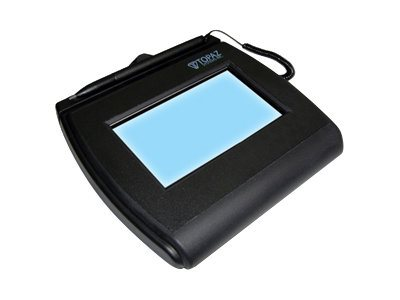 Topaz SignatureGem LCD 4x3 Transaction Terminal, Backlit HID USB Serial Ethernet, T-LBK755SE-BHSB-R