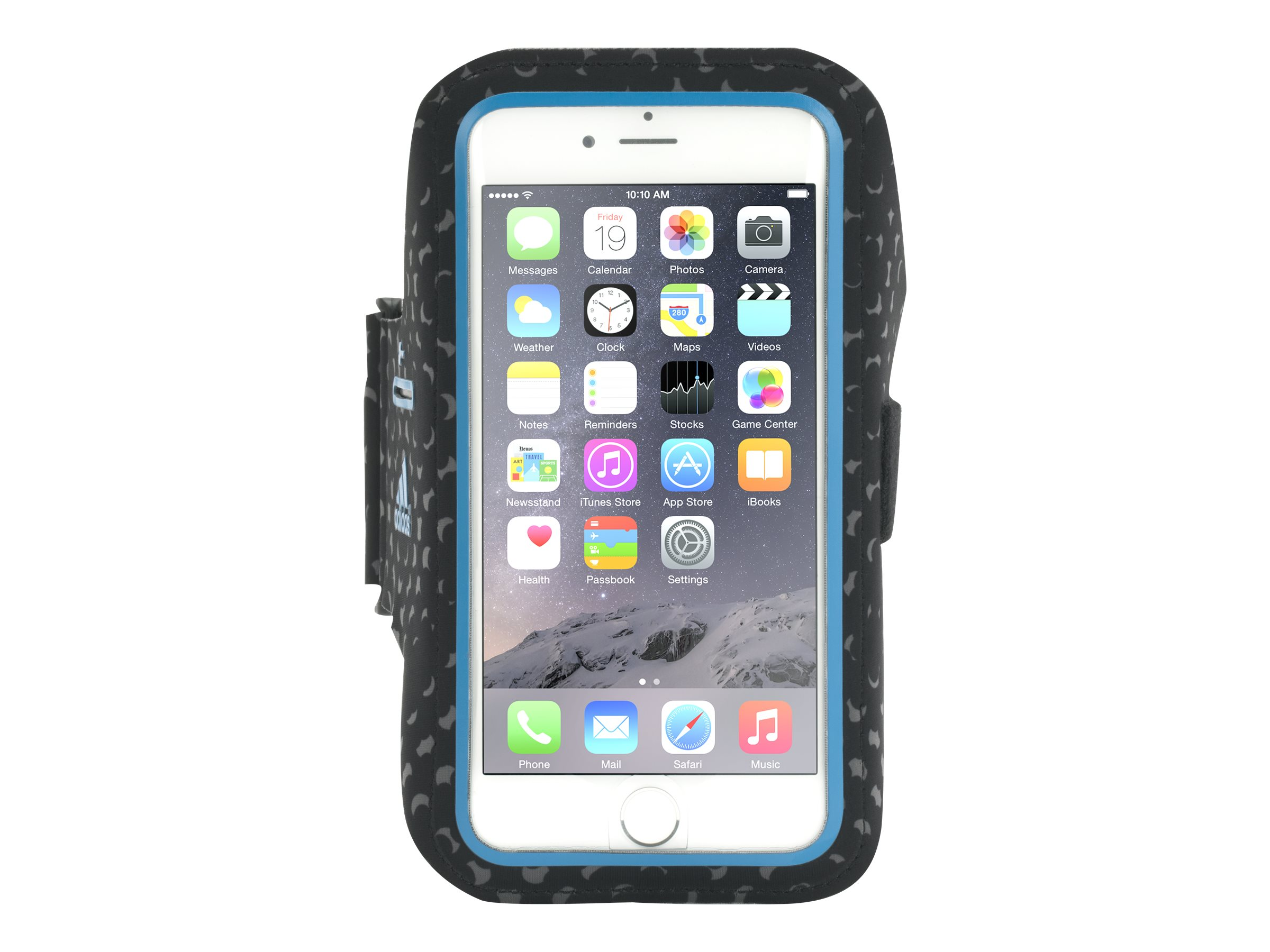 Griffin Armband Adidas for Galaxy S5 S6, Black Blue, GB38824, 19697101, Carrying Cases - Phones/PDAs