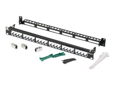 Panduit 24-Port Shielded Patch Panel Kit, CP24WSBBK6TGBL